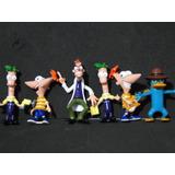 Novo !!!!! 06 Bonecos Phineas And Ferb Com 10 Cm Altura