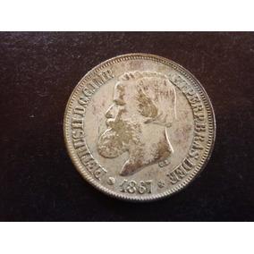 Moeda De Prata 500r.1867.