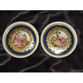 Sofisticados,raros Mini Pratos Dp Dec.ouro 24 Karat,déc.70