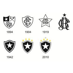 95a8ddef90236 Kit Adesivo 7 Escudos Evolução Botafogo Frete Gratis