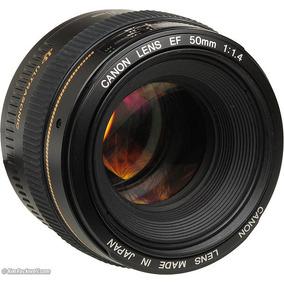 Lente Nova Canon 50mm F/1.4 Usm C/ Nf-e Garantia 1 Ano Canon