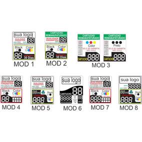 Adesivo Etiqueta Cartucho 3 Dígitos Personalizada