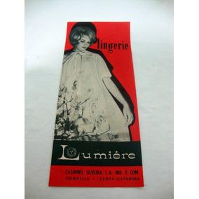 Propaganda Antiga De Lingerie Lumiere