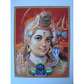 Pôster Gravura Imagem Papel Hindu Indiana Shiva 3 M