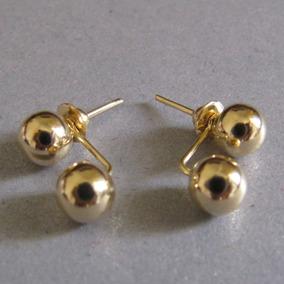 Leloeane Brinco Bola 5mm Ouro18k Brincos Ouro Pedras - Joias e ... 6081c47c7a