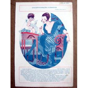 Escripturação Feminina / Gravura / 1917 / Eu Sei Tudo