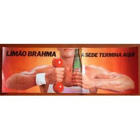 Cartaz Promocional Do Limão Brahma.