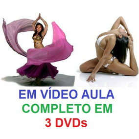 Aulas Dança Do Ventre + Yoga - Completo Em 3 Dvds Xc