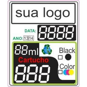 1000 Adesivo Etiqueta Cartucho 3 Dígitos Personalizada