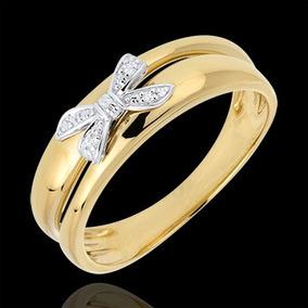Anel De Ouro 18k/750 De Laço + Diamantes An120vivar