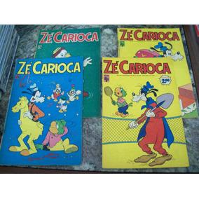 Pacote 7 - Com 4 Gibis Antigos Do Zé Carioca