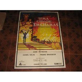 Cartaz De Cinema Original Uma Cidade Em Chamas Terence Hill
