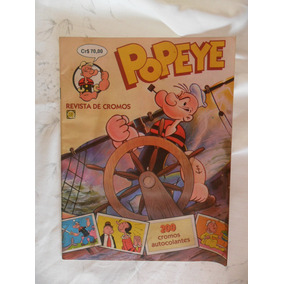 Popeye! Album Com 42 Figuras Coladas! Rge - 1982!