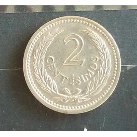 M 0018 Moeda Antiga Uruguai 2 Centavos 1953