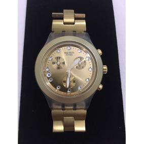 cb0808f19c7 Relogio Swatch Irony Diaphane Dourado Original - Relógios De Pulso ...
