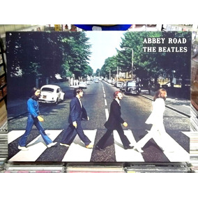 Quadro Poster Madeira The Beatles Abbey Road Pronta Entrega