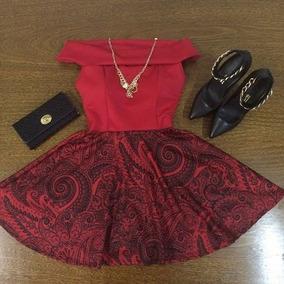 Vestido Neopreme Rodado (frete Grátis)