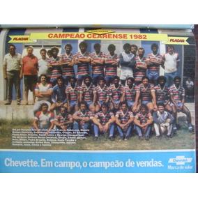 Mini Poster Fortaleza Campeão Ceara 1982 Placar