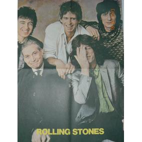 Pôster Banda Rolling Stones 38,5cm Compr X 51,5,5cm Altura