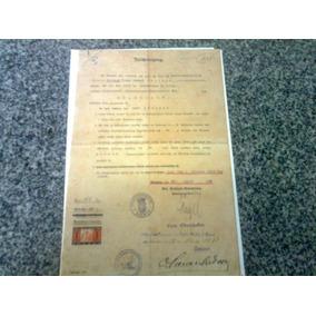 Documento Alemão De 1928 Com Selo E Carimbo