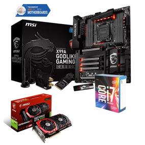 Godlike Gaming + Core I7-6800k 6core 3.4ghz + Msi Gtx1080 8g