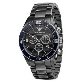 7b3a9aebc01 Relógio Emporio Armani Ar1429 Cerâmica Preto Na Caixa manual