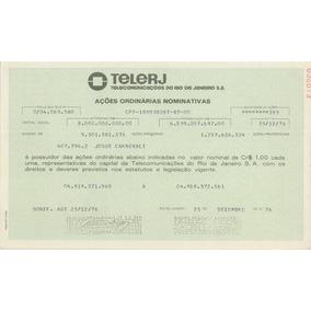 Apólices Da Telerj - Telecomunicações Do Rio De Janeiro
