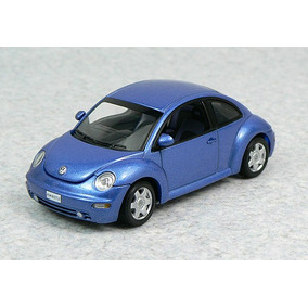 1:43 Autoart 59731 Vw New Beetle - Bright Blue Fusca