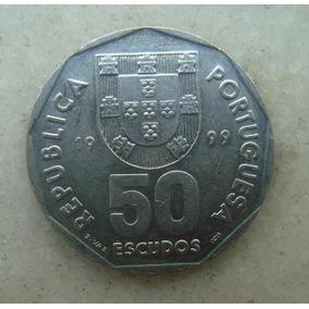 4403 Portugal 50 Escudos, 1999 Inox , Caravela 31mm