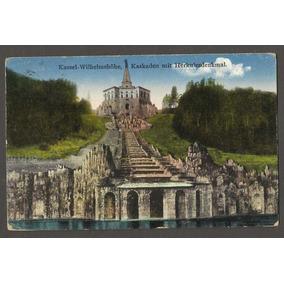 Postal Alemanha Circulado 1931, Kassel Wihlelmshohe Kaskaden