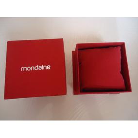 Estojo Porta Relógio Marca Mondaine Vermelho P/colecionador