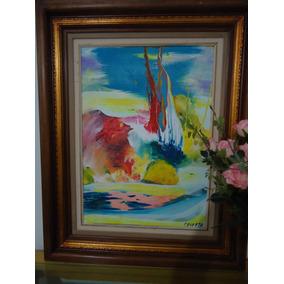 3b86d0c87e89b Pintura Abstrata Em Tela Com - Pinturas Originais no Mercado Livre ...