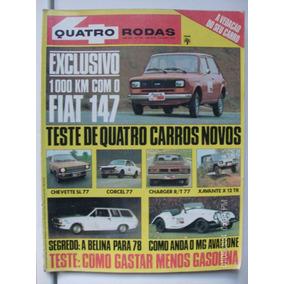 Revista Quatro Rodas N- 198 Chevete Charger Corcel Xavante