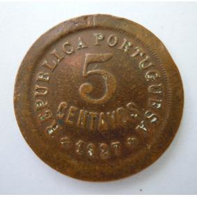 Moeda De Portugal - 5 Centavos 1927 Mbc
