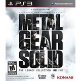 Metal Gear Solid: The Legacy Edition Ps3 Nuevo Sellado