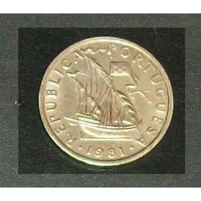 Moeda Portuguesa 5$00 Escudos Níquel 1981