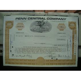 Apolice - Penn Central Company - Ano 1970
