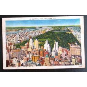 Cartão Postal Antigo Colorido Central Park Ny Nova New York