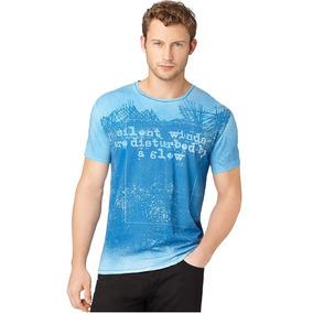 6b40ecab6d3bb Branco G Camiseta Calvin Klein Mesclada Azul - Camisetas e Blusas no ...