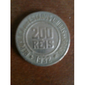 Moeda De Cupro Niquel De 200 Reis , Republica De 1932