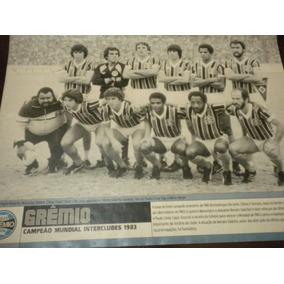 Poster Gremio Campeão Mundial 1983 21x27 Cm Placar