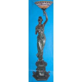 Linda Luminaria De Petit Bronze Com Cupula Tiffany ( B2 )