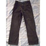 Pantalones De Corduroy Verde Y Negro Para Niño Talla 4
