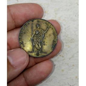 Moeda Rara 5 Lire Italiane Data 1848 Para Colecionadores.