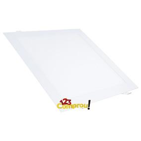 Painel Plafon Luminaria 25w Led Quadrado Slim Embutir 6000k