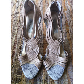 Sandalia Festa Shoestock Nude, Trancada Tam 33,croco
