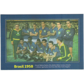 Cojunto De 6 Postais - Brasil Na Copa Do Mundo - Futebol