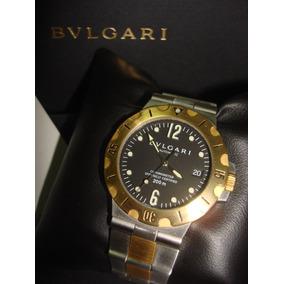 Relógio Bvlgari Scuba Crono 38mm Ouro Amarelo 18k Completo. Usado · Bvlgari  Scuba Misto (revisado), Novissimo! c2b6205094