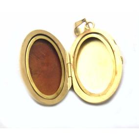 Lindo Pingente Porta Fotos Design Antigo Em Ouro 18k - D557