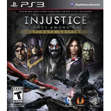 Injustice Gods Among Us Ultimate Edition Ps3 Digital Gcp